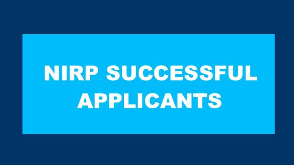 nirp successful applicants